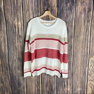 Workshop republic sweater stripes boho women's xl